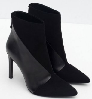 zara LEATHER HIGH HEEL ANKLE BOOTS 8990