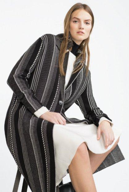 zara jacquard coat 8990