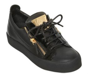 20MM LEATHER & PATENT LEATHER SNEAKERS GZ