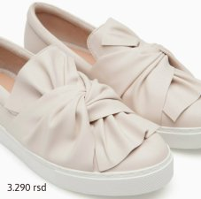 SLIP ONS WITH BOW TRIM