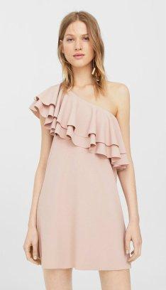 2990 Asymmetrical ruffle dress