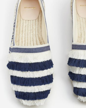 mng 1990 Striped cotton espadrilles
