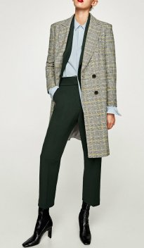 z CHECKED WOOL COAT 8990