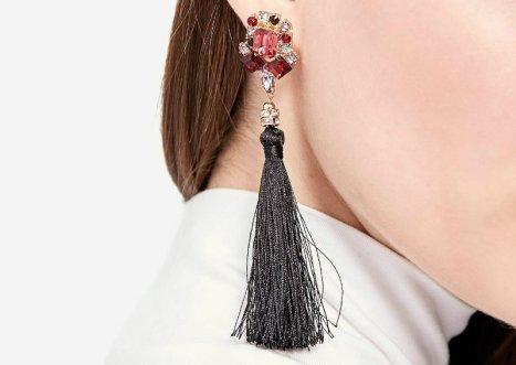 3 strd 599 Tassel earrings