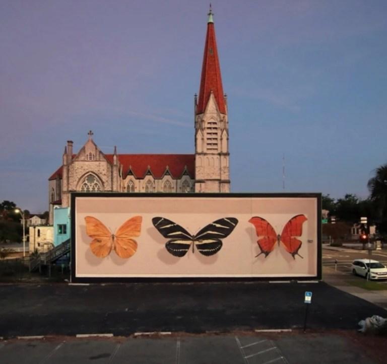 jacksonville, florida ulična umetnost fasade oslikane