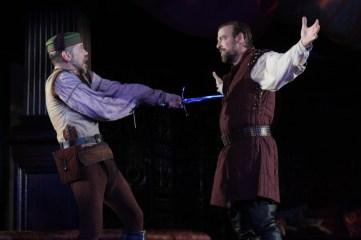 As Roderigo in Othello. With Ian Peakes as Iago.