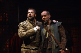 Ian as Henry VIII with Louis Butelli as Will Somers. Photo by Carol Pratt.