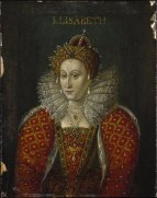 Queen Elizabeth I. after John de Critz. Oil on panel, after 1620.