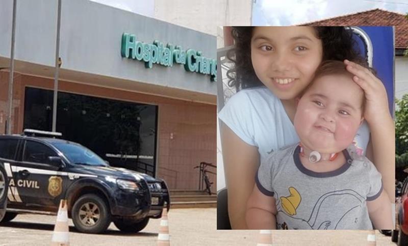 Maria Eduarda e Otávio Yankee Moura iam tomar a quarta dose do remédio para o tratamento de AME — Foto: Arquivo da família