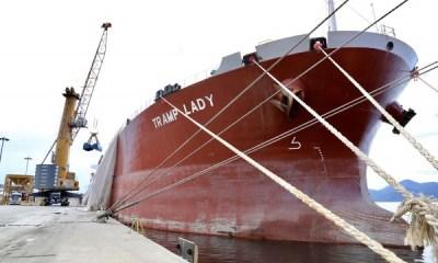 Harbor opera navios com maior comprimento e volume de carga de fertilizantes