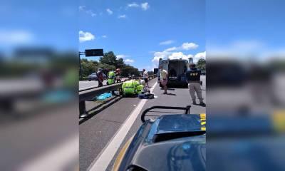 Motociclista morre em acidente de trânsito na BR-376 em Tijucas de Sul