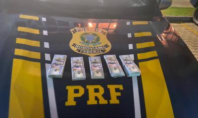 Casal que transportava US$ 50 mil é preso pela PRF em Guaratuba