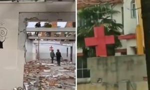 China destrói igreja e remove cruzes enquanto cristãos se isolam em casa