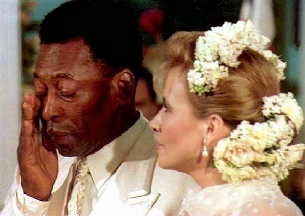 Casamento de Pelé com Assíria Seixas Lemos em 30 de abril de 1994.