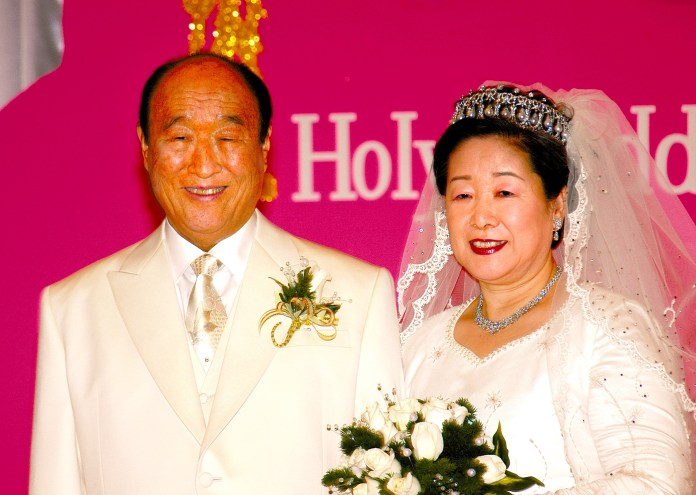 Sun Myung Moon, o Reverendo Moon e sua esposa, Hak Ja Han Moon