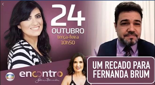 Marco Feliciano manda recado para Fernanda Brum sobre ida ao Programa Encontro na Rede Globo