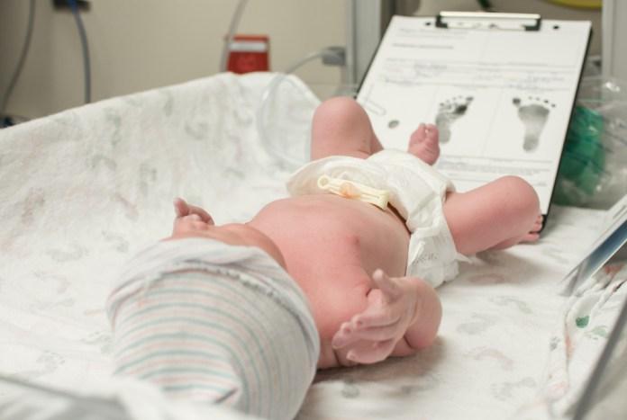 Registro do nascimento de um bebê