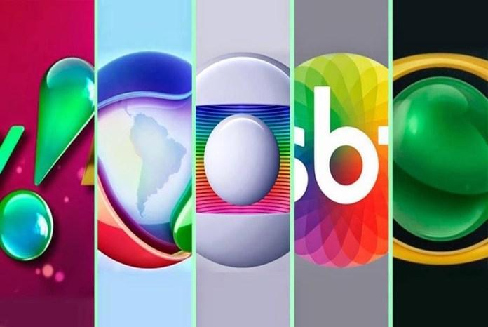 Rede TV, Record TV, Rede Globo, SBT e Band