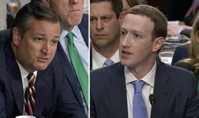 Senador Ted Cruz confrontou Mark Zuckerberg sobre censura política no Facebook.