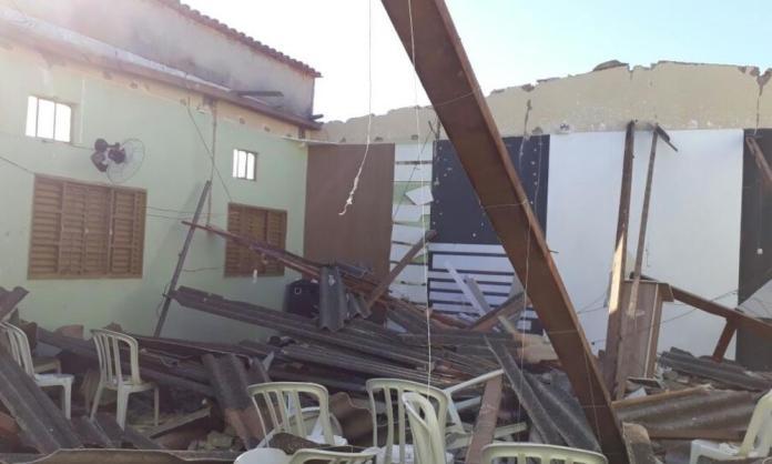 Igreja evangélica desaba Porangatu, na região Norte de Goiás