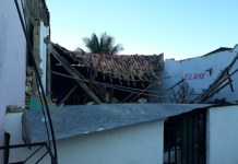 Teto de igreja desaba em União dos Palmares, Alagoas