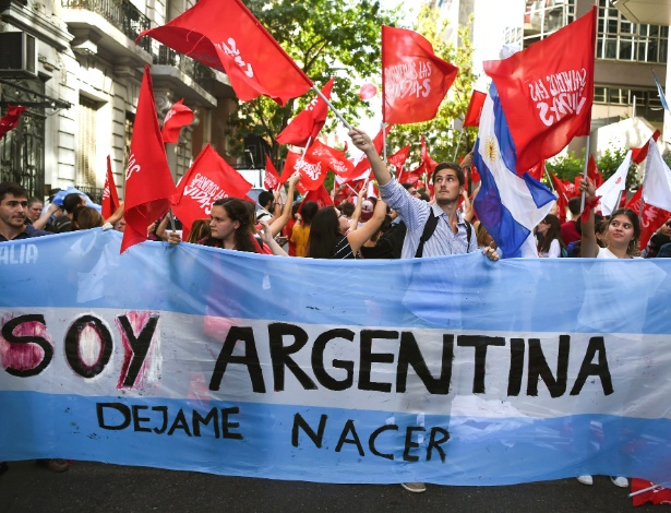 Protestos na Argentina contra o aborto