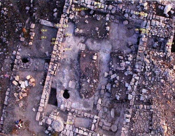 O esboço de uma sinagoga em Khirbet Qana, que pode ser o local primeiro milagre onde Jesus transformou água em vinho. (Foto: Pen News)