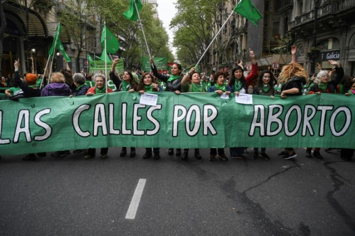 Protestos na Argentina a favor do aborto