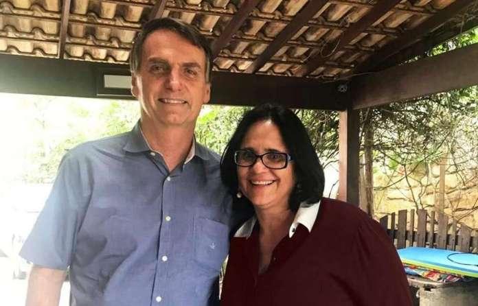 Pastora Damares Alves e Bolsonaro