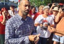 O pastor Mike Rodrigo Vieira da Silva, da Congrega Church, visitou Lula, na sede da Polícia Federal em Curitiba (PR).