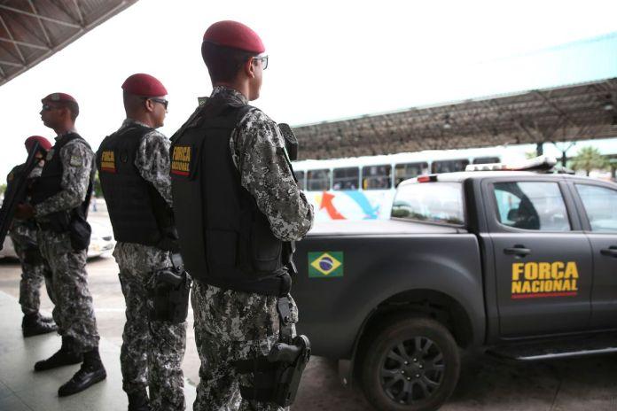 Após a série de ataques no Ceará, a Força Nacional de Segurança Pública está fazendo o policiamento ostensivo nas ruas de Fortaleza, em apoio aos agentes de segurança do estado.