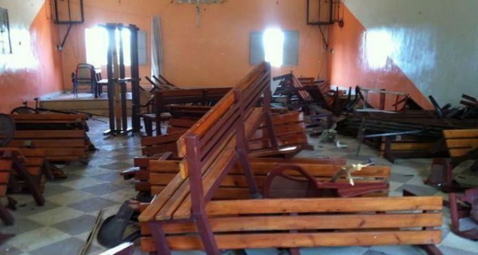 Igreja cristã saqueada e destruída em Cartum, no Sudão