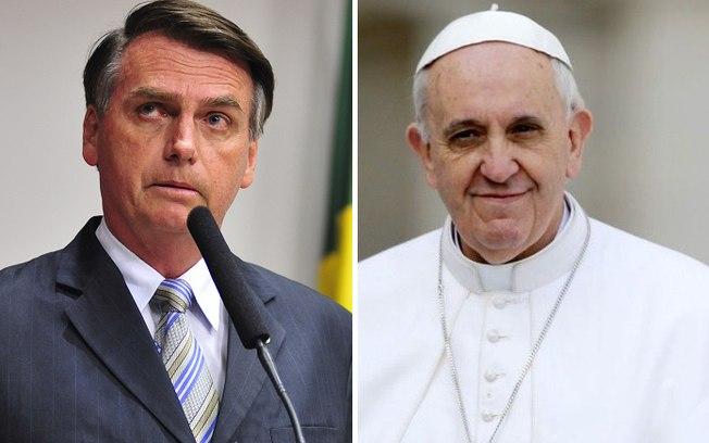 Jair Bolsonaro e o papa Francisco