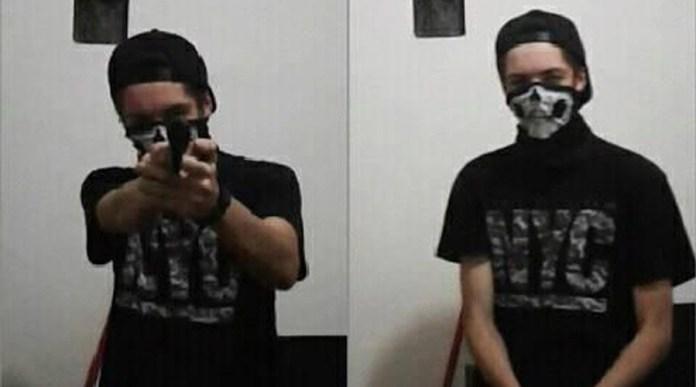 Foto que Guilherme Taucci postou minutos antes de cometer o massacre em Suzano. — Foto: Reprodução/Facebook