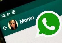 Boneca Momo no WhatsApp