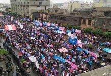 Marcha organizada pelo grupo Con Mis Hijos No Te Metas, reúne milhares de pessoas em Lima, capital de Peru, contra a ideologia de gênero nas escolas