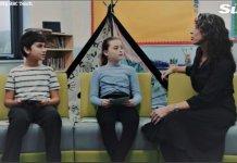 No vídeo, crianças fazem perguntas sobre sexualidade a adultos e recebem respostas baseadas na ideologia de gênero. (Imagem: BBC / Reprodução)
