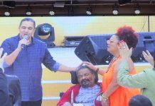 Arlindo Cruz e esposa vão a culto na ADVEC do Recreio do Bandeirantes, no Rio de Janeiro, véspera do seu aniversário, em 13 de setembro de 2019