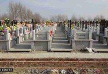 Cemitérios são utilizados para cultos a Deus por cristãos chineses. (Foto: Reprodução/Bitter Winter)