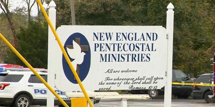 Placa da igreja New England Pentecostal Church
