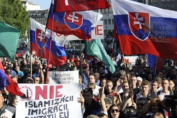 Protestos contra o islamismo e a imigração na Eslováquia