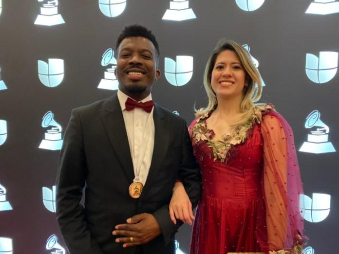 Delino Marçal com a esposa em Las Vegas