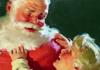 Papai Noel com uma criança