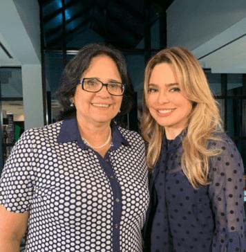 Ministra Damares Alves e a jornalista Rachel Sheherazade