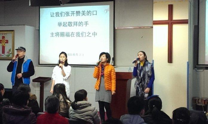Culto em uma igreja na China (Foto: Reprodução/Religion News)
