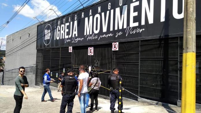 Igreja Movimento Comunidade Quadrangular, em Betim, é interditada por promover culto com aglomeração (Imagem: Divulgação/Prefeitura de Betim)
