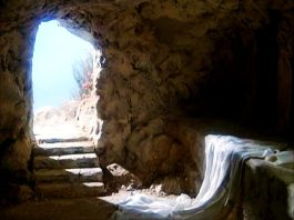 Túmulo de Cristo vazio (ilustração)