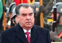 momali Rahmon, presidente do Tajiquistão desde 1994