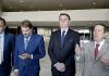 O presidente Jair Bolsonaro com os pastores Silas Malafaia, Estevam Hernandes e R. R. Soares, durante encontro com pastores no dia 05 de junho no Palácio do Planalto