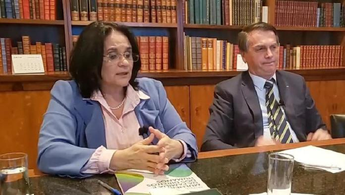 Damares Alves e Jair Bolsonaro